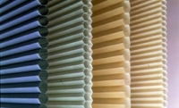honeycomb shades multi color close up