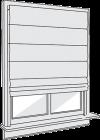 roman shade flat fold option