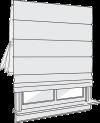 roman shade operable liner option