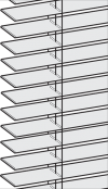 wood blinds standard system with route holes