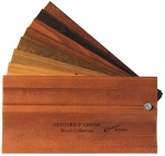 wood blinds sample fan - cedar wood