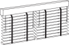 wood blinds multi-blind rail option