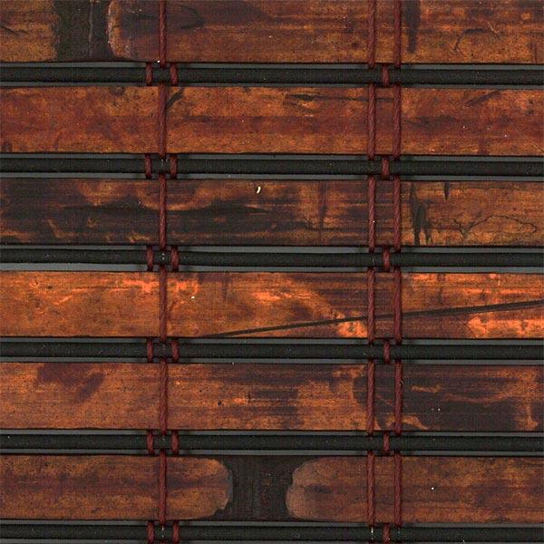 bamboo woven wood cayo mahogany sample