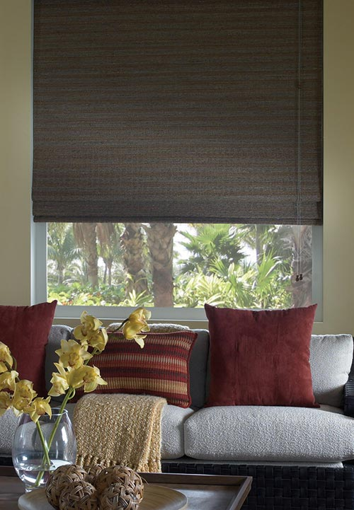 bamboo woven wood shade blackout